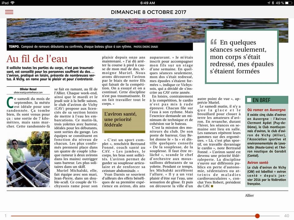 Article la montagne aviron sante 08 octobre 2017 2
