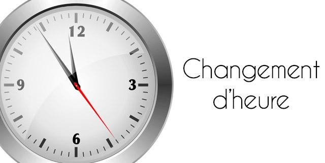 Changement heure