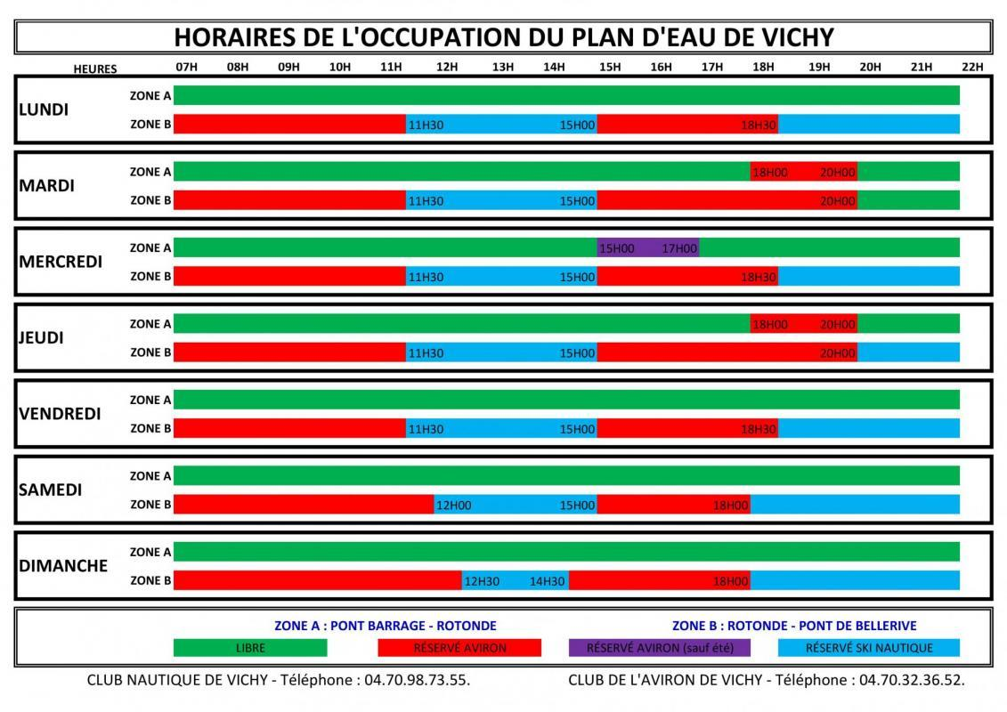 Horaires d occupation 1
