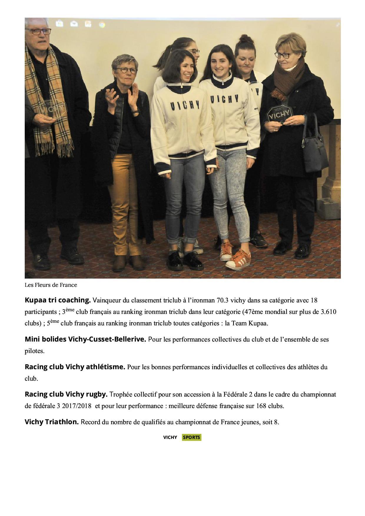 La ville de vichy met ses sportifs a l honneur vichy 03200 la montagne6 2