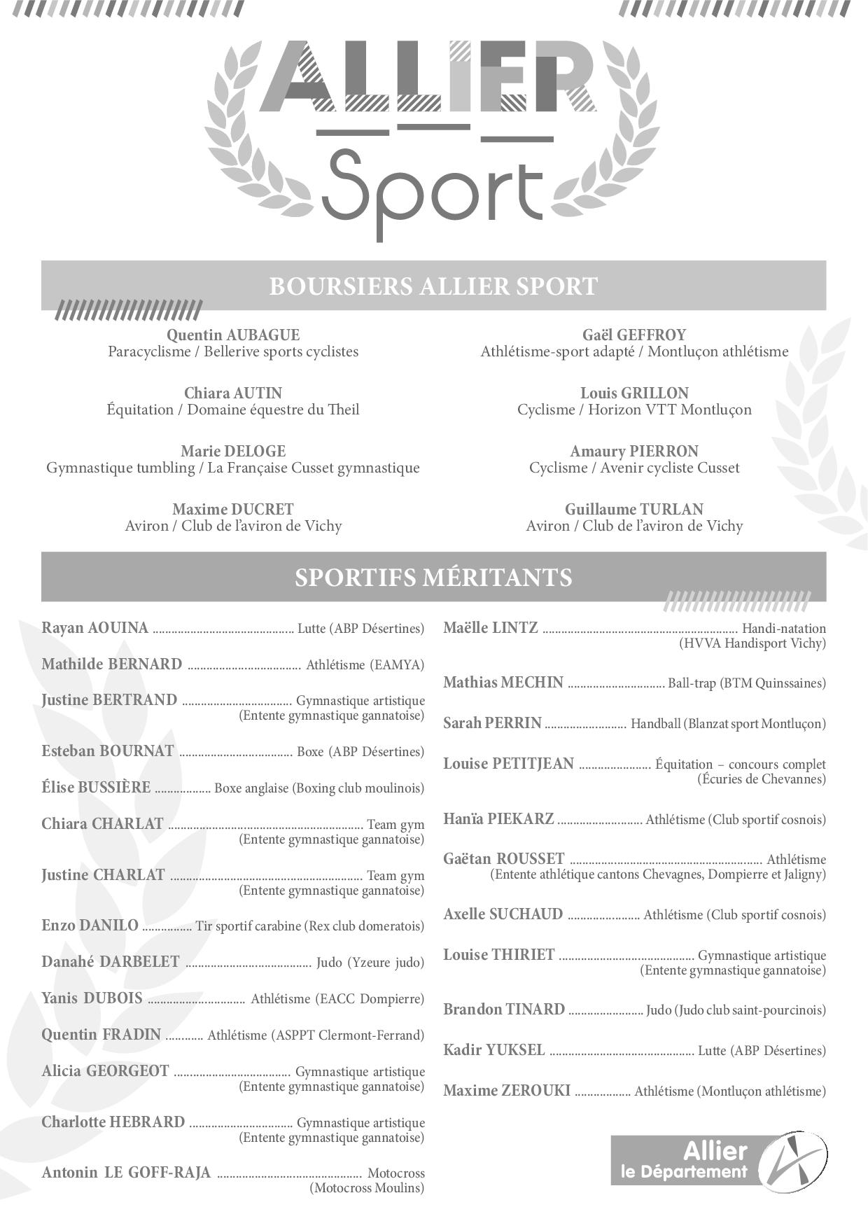 Recapitulatifs sportifs